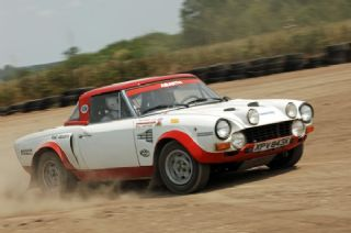 Rallying A Sports Car Fiat 124 Spider Abarth Peter Collins